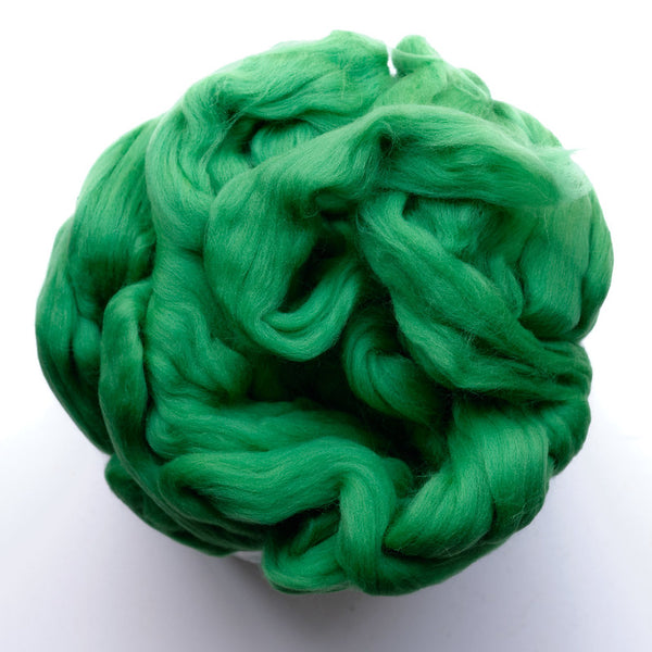 Portuguese merino wool top - Grass (24)