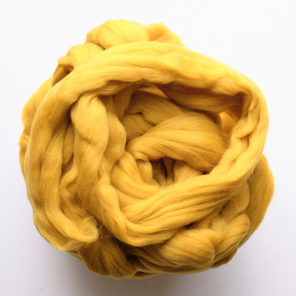 Portuguese Merino Wool top - Gold (08)