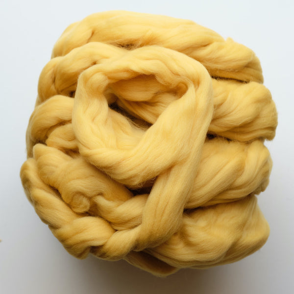 Portuguese merino wool top - Yellow (07)