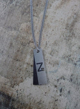 Load image into Gallery viewer, Z Plate Necklace