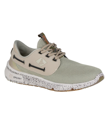 Sperry Mens 7 seas 3-eye Camo / White