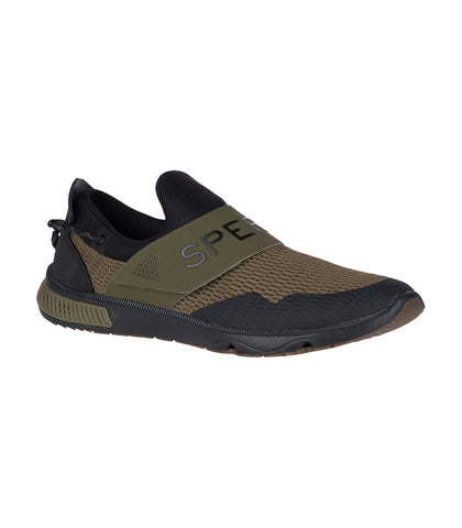 Sperry Mens 7-seas slip-on Olive/Black