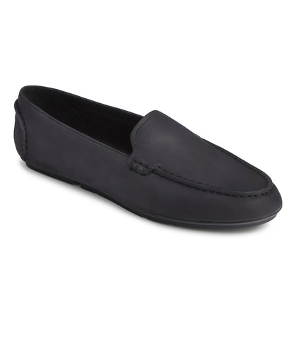 Sperry Ladies Driver Moc Slip On Leather / Black