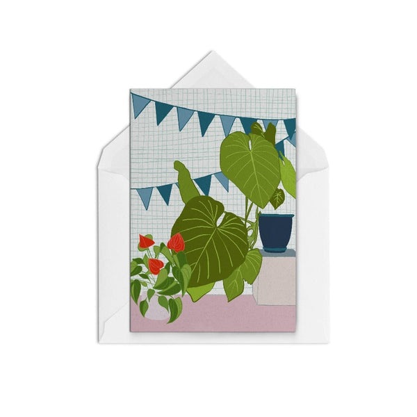 Houseplants & Bunting