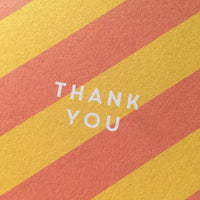 Thank you - candy stripe