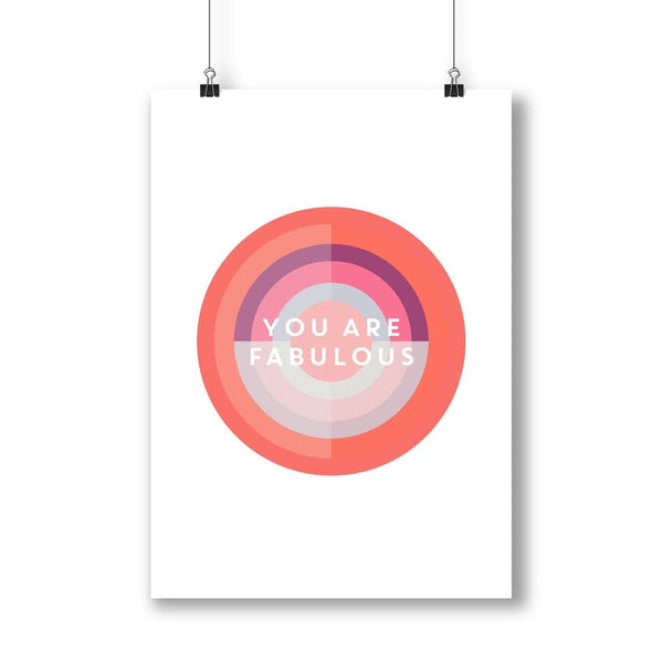 You are Fabulous Target Print