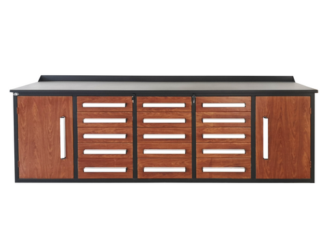 Steelman 10 FT Work Bench with 15 Drawers & 2 Cabinets