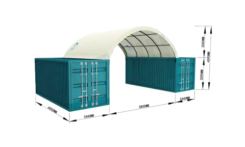 Gold Mountain Shipping Container Canopy Shelter 20'x20'