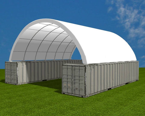 Gold Mountain Shipping Container Canopy Shelter 20'x40'