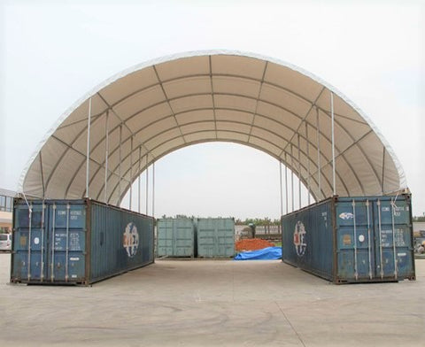 Gold Mountain Shipping Container Canopy Shelter 40'x40'