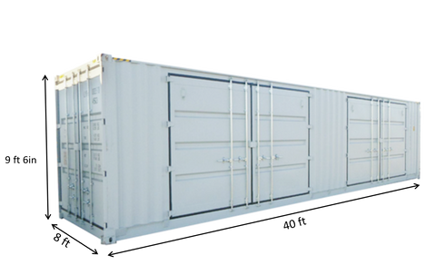 40ft High Cube Container with 2 Side Doors