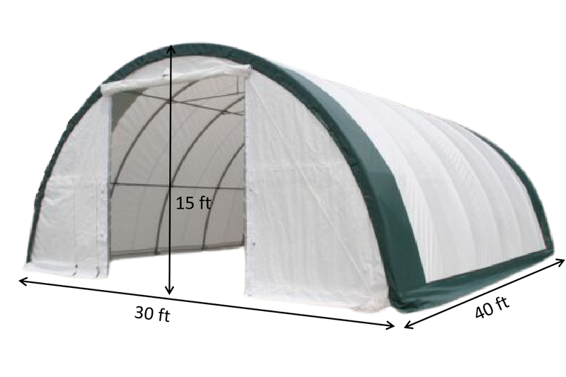 Gold Mountain Double Truss Arch Storage Shelter L40'xW80'xH20'