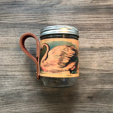 Load image into Gallery viewer, Leather Mason Jar Cozy