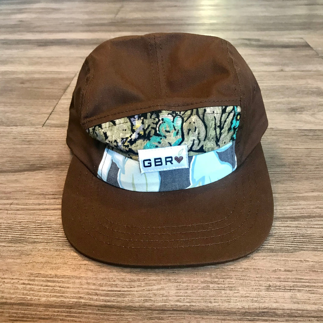 Brown Five Panel Scrap Hat