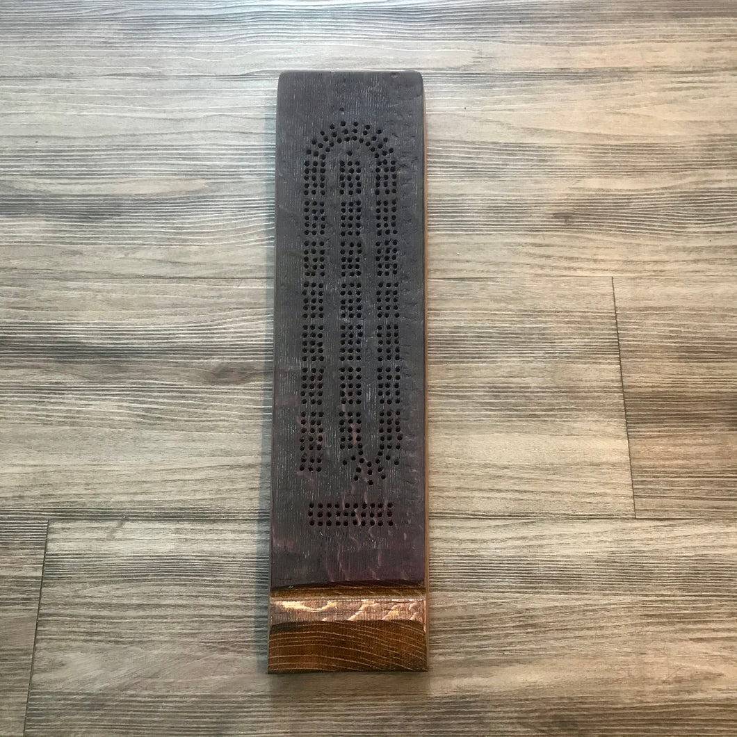 Wine barrel Cribbage Board