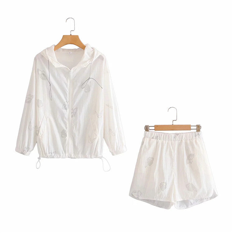 Two Piece Set Women Reflective Butterfly Playsuits