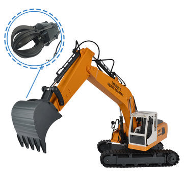 RC Excavator Robot With Metal Bucket And Dig Hand