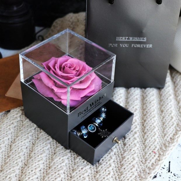 Eternal Rose Jewelry Box for Valentines Day