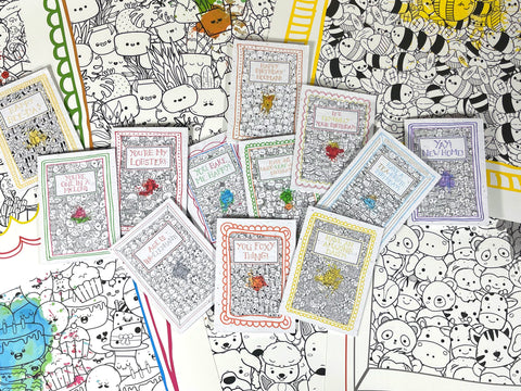 image vegan friendly ink cards that you can colour in.