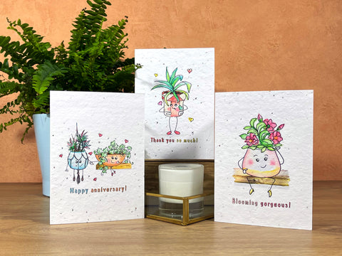 image of vegan friendly ink greeting cards at home.