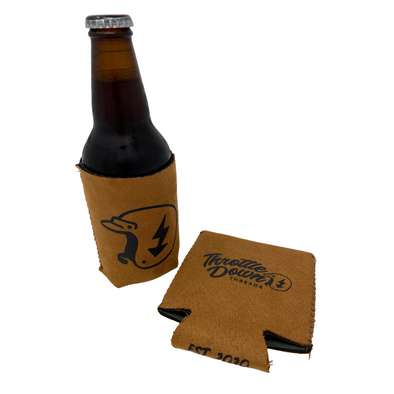 Throttle Down Threads Suede-Style Coozie
