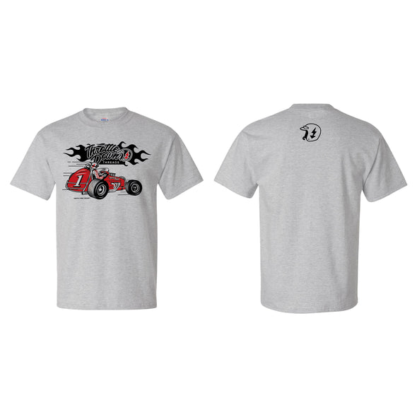 Throttle Down Threads Vintage Sprinter Tee - Heather Gray