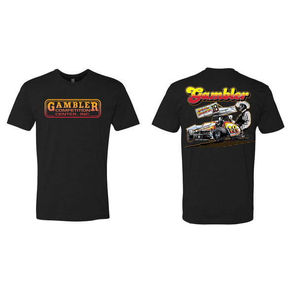Gambler Chassis Cowboy Unisex Tee - Black