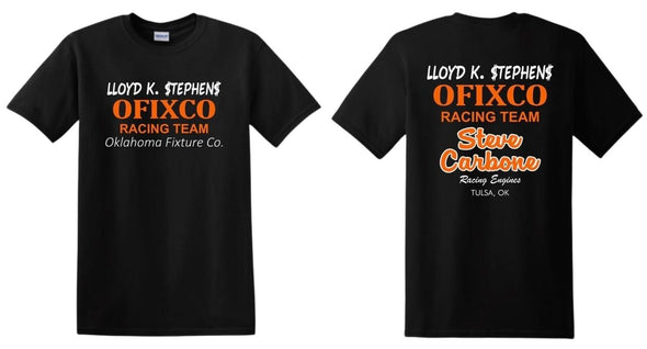 Ofixco Racing Team/Steve Carbone Racing Engines Logo Unisex Tee - Black