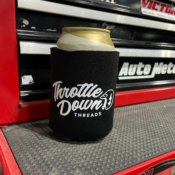 Throttle Down Threads Coozie