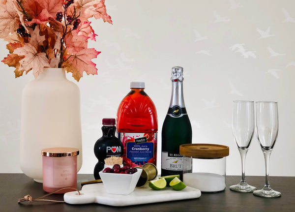 Alcohol-Free Bellini Setup