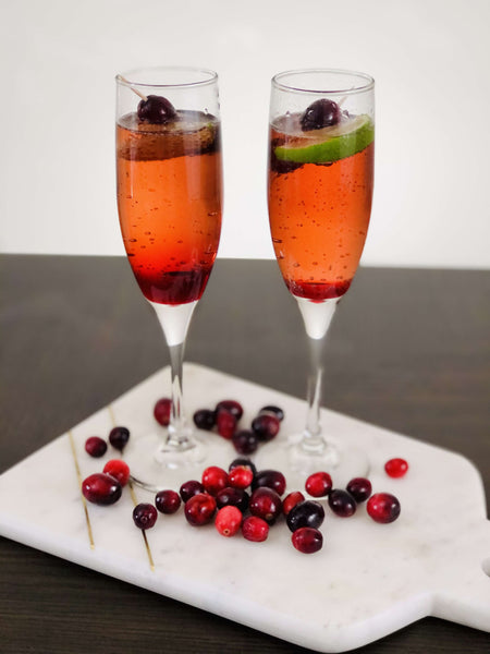 Non-Alcoholic Bellini with Champagne or Prosecco