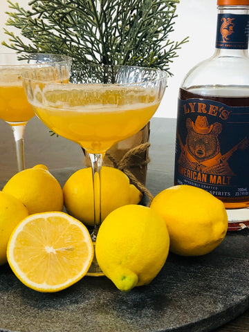 Non-Alcoholic Whiskey Sour Drink