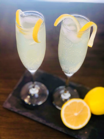 Finished Non-Alcoholic French 75 Drink