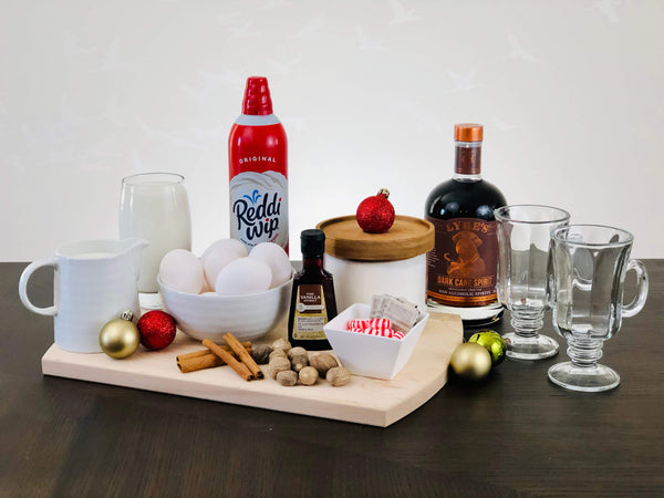 Ingredients for Alcohol-Free Eggnog Recipe