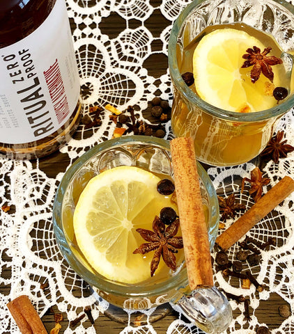 Alcohol-Free Hot Toddy Beverage