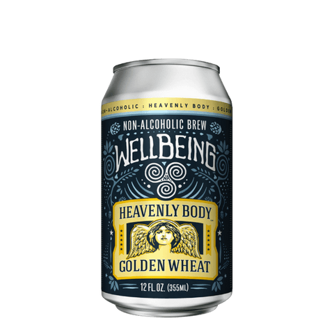 Wellbeing Brewing Company Heavenly Body Golden Wheat Non Alcoholic Craft Beer