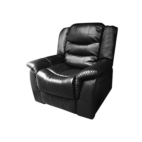 Alan Recliner Bonded Leather -1R -BLACK