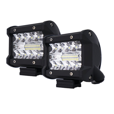 2x 4 inch CREE LED Work Light Bar Spot Flood OffRoad Driving 4WD 4x4 Reverse