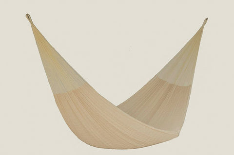 Single Size Cotton Mexican Hammock in Cream Colour