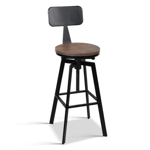 Artiss Rustic Industrial Metal Bar Stool