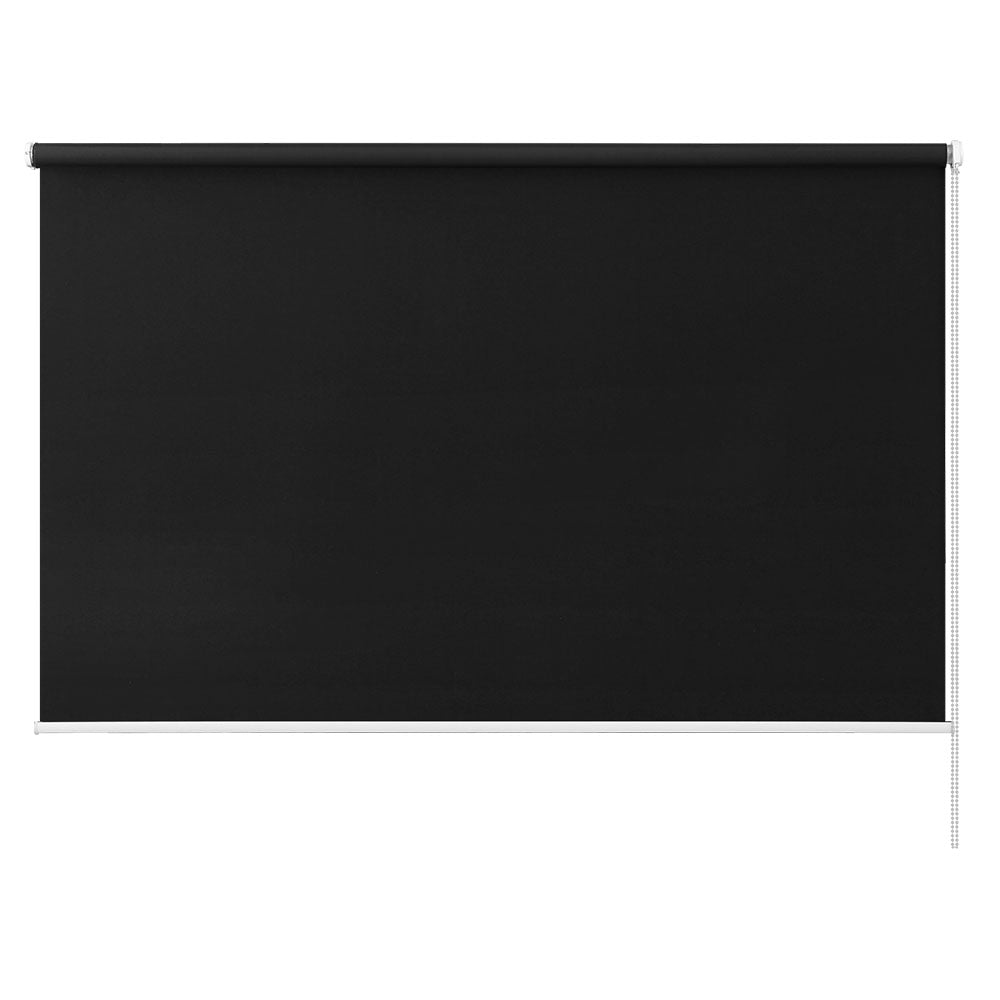 Roller Blinds Blockout Blackout Curtains Window Modern Shades 1.8X2.1M Black
