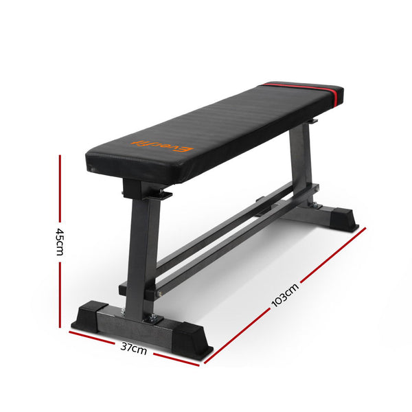 Everfit Weight Bench Flat Multi-Station Home Gym Squat Press Benches Fitness