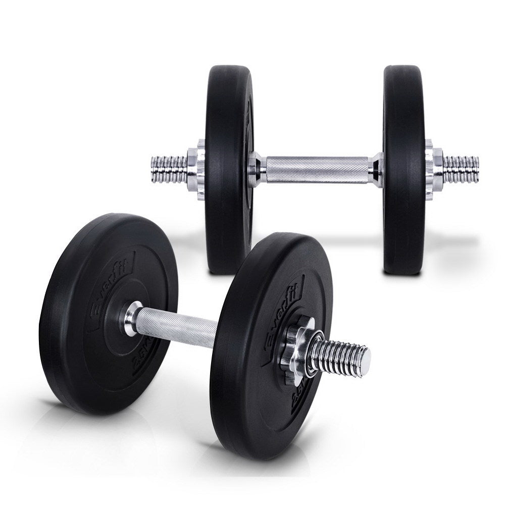 Everfit 15KG Dumbbell Set Weight Dumbbells Plates Home Gym Fitness Exercise