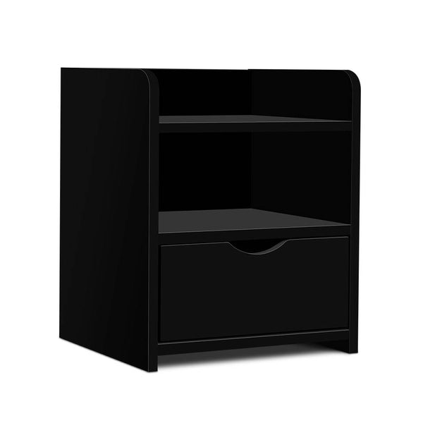 Artiss Bedside Table Drawer - Black