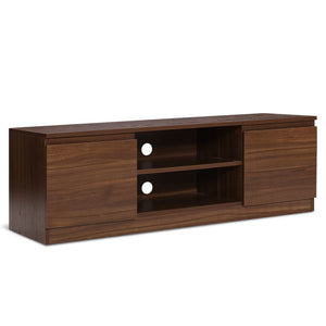 Artiss TV Cabinet Entertainment Unit Stand Side Storage Lowline Cupboard Walnut