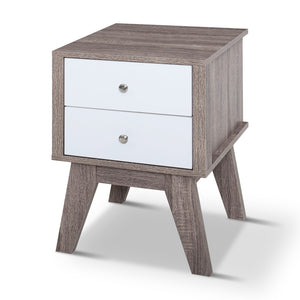 Artiss Bedside Tables Drawers Side Table Nightstand Storage Cabinet Wood