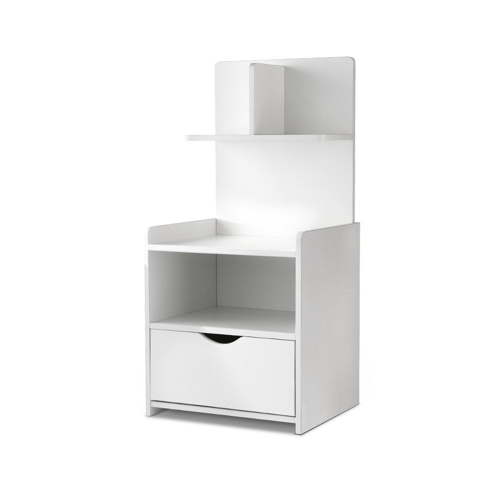 Artiss Bedside Table Cabinet Shelf Display Drawer Side Nightstand Unit Storage