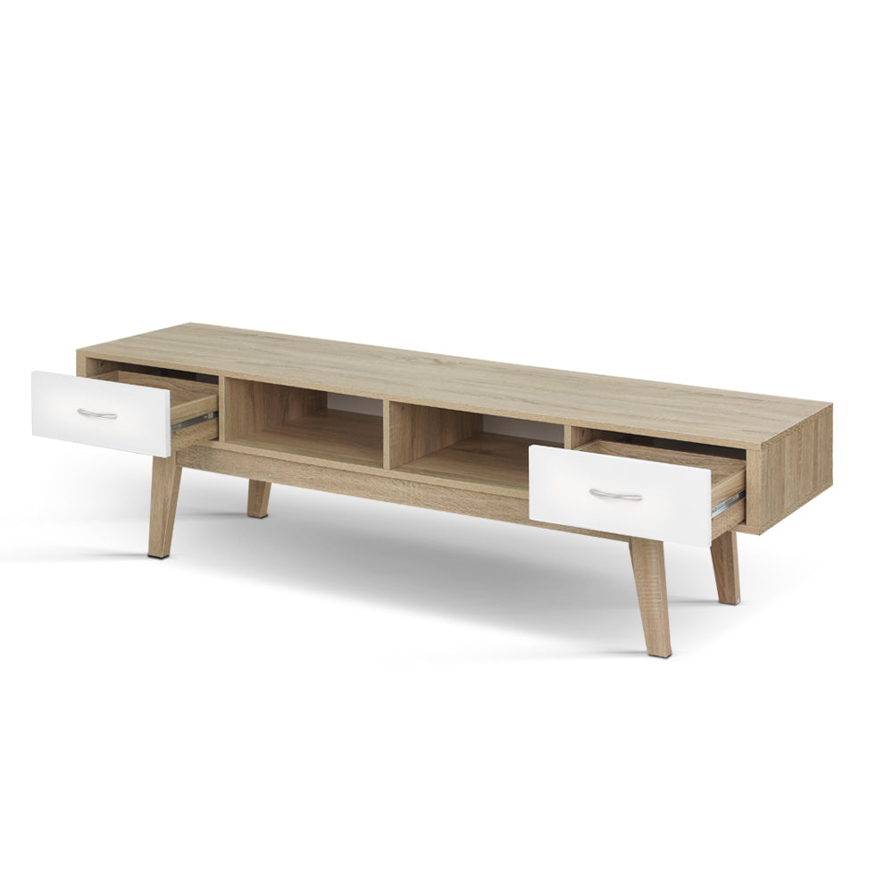 Artiss TV Cabinet Entertainment Unit Stand Storage Drawer Scandinavian 180cm Oak