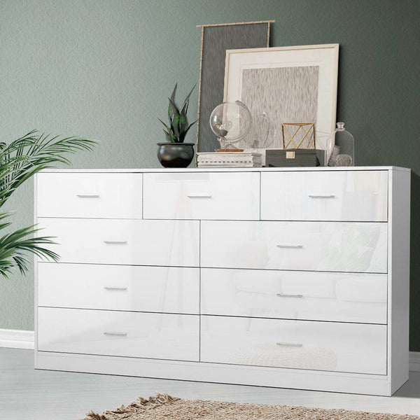 Artiss 9 Chest of Drawers Cabinet Dresser Table Lowboy Storage Bedroom