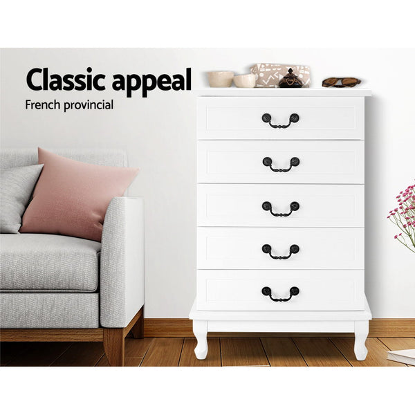 Artiss Chest of Drawers Tallboy Dresser Storage Cabinet Table Bedroom Organiser